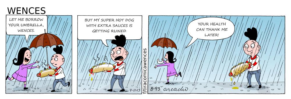 Wences' hot dog.